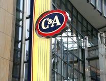 C&A Clements e logotipo da loja de agosto Fotos de Stock