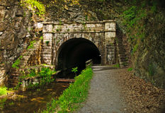 C&O de Tunnel van de Poot van de Poot van het kanaal Stock Foto's