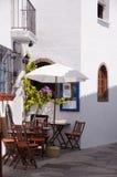 $c-andalusisch terras bij de lente Stock Afbeelding