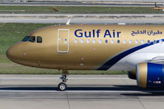 A9c-AQ Gulf Air-Luchtbus A320-214 Stock Fotografie
