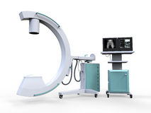 C Arm X-Ray Machine Scanner. On white background. 3d render Stock Photos