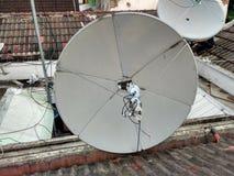 C-band Solid Disc. Parabola for C-band frekuensi. For TV sattelit Stock Image