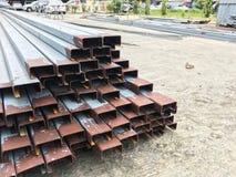 C Beam steel channel Stock Photos