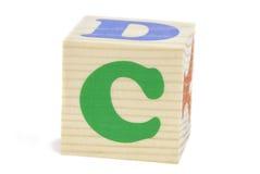 c-bokstav Arkivbild