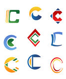 c-bokstavssymboler Arkivfoto