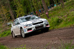 C. Britton driving Subaru Impreza Royalty Free Stock Photography