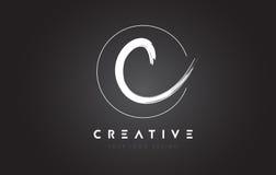 C Brush Letter Logo Design. Artistic Handwritten Letters Logo Co. C Brush Letter Logo Design. Artistic Handwritten Brush Letters Logo Concept Vector Stock Photos