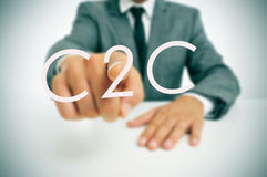 C2C, consumer-to-consumer Stock Photos