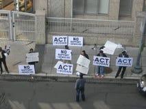 C.C d'ambassade du Qatar de protestation de Beja Photos libres de droits