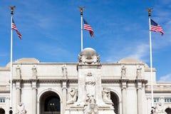 C.C. de Washington da estação da união da fonte de Columbo Fotos de Stock Royalty Free