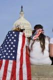 C.C. de Washington - 10 de abril de 2013: Demostración t de los manifestantes Foto de archivo libre de regalías