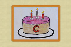 C for cake. Alphabet with picture Stock Photos