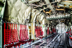 C130 cargo room aircraft. Stock Images