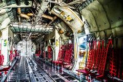 C130 cargo room aircraft Stock Image