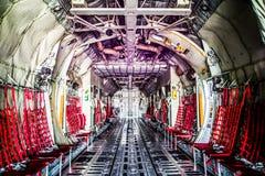 C130 cargo room aircraft. Royalty Free Stock Photos