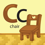 C for Chair. A vector of letter C for Chair vector illustration