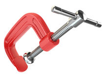 C-clamp hand vise. Stock Photos