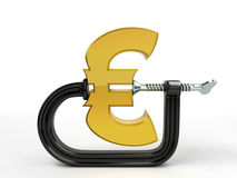 C clamp squeeze euro Stock Photography