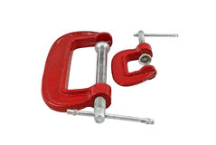 C clamps on white Stock Photo