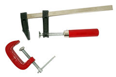 C clamps on white Stock Image