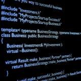 C++ code Stock Image