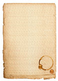 C with coffee stains. old paper sheet Royalty Free Stock Photos
