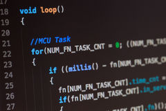 C computer language source code royalty free stock image