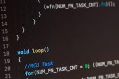 C computer language source code Stock Photos