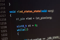 C computer language source code Stock Image