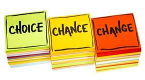 3C concept - keus, kans en verandering Royalty-vrije Stock Afbeelding