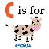 C is for Cow Royalty Free Stock Images