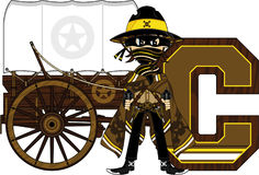 C is for Cowboy Stock Image