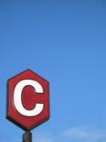 c czerwieni znak Zdjęcie Stock