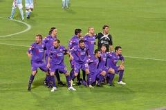 C.A. de Fiorentina com a equipe 2010 Imagem de Stock