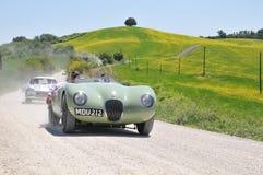 C de jaguar de 3 véhicules de cru, Mercedes SL Gullwing Photos stock