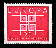C e P T - 正方形, serie,大约1963年 免版税库存图片