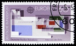 CEPT - Modern architecture, serie, circa 1987. MOSCOW, RUSSIA - FEBRUARY 21, 2019: A stamp printed in Germany, Federal Republic, shows CEPT - Modern architecture stock photo