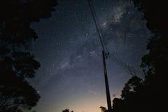C'era una galassia sul modo fotografia stock
