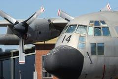 C-130 Ercole su esposizione statica Immagini Stock