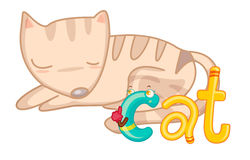 C está para el gato ilustración del vector