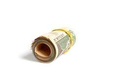 C'est beaucoup de billets de banque sur 500 UAH Photographie stock