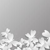 C'est beaucoup de papillons de papier Image stock