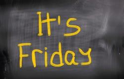 C'est concept de vendredi Image libre de droits