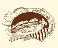 C'est illustration de hot dog illustration de vecteur