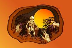 C'est image pour Halloween illustration de vecteur