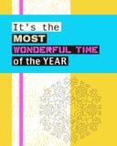 C'est la période la plus merveilleuse de l'année Image libre de droits