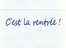 C'est la rentrée, meaning back to school in french Royalty Free Stock Photos