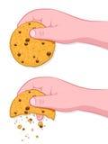 C'est la voie que le biscuit s'émiette l'idiome illustration stock