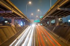 C'est le trafic d'heure de pointe de matin dans Austin, le Texas images libres de droits