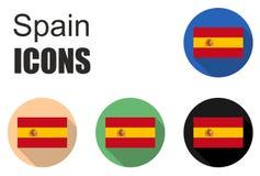 C'est les icônes plates de l'Espagne Image libre de droits